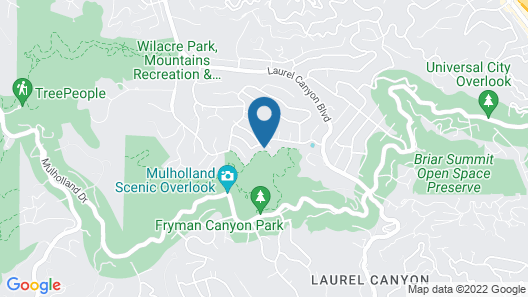 Hollywood Hills Upscale Map