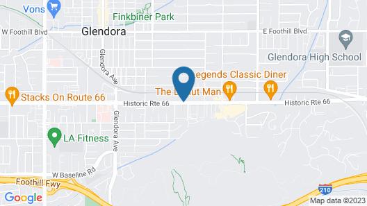 Best Western Plus Route 66 Glendora Inn Map