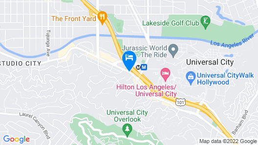 BLVD Hotel & Spa-Walking Distance to Universal Studios Hollywood Map