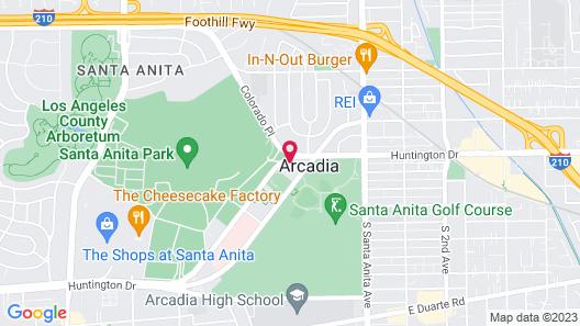 Le Méridien Pasadena Arcadia Map
