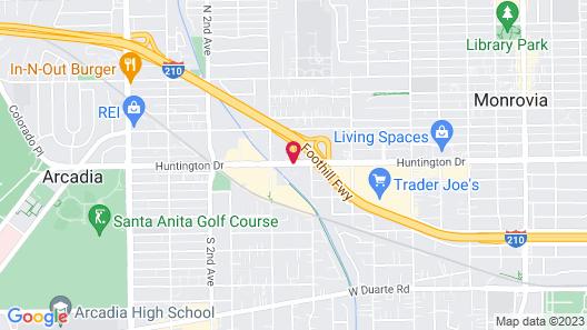 DoubleTree by Hilton Monrovia - Pasadena Area Map