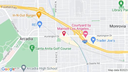 Residence Inn by Marriott Pasadena Arcadia Map