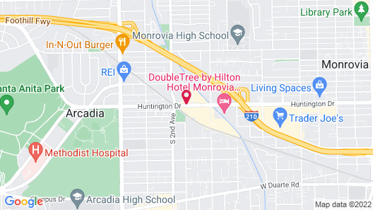Hampton Inn Los Angeles/Arcadia/Pasadena Map