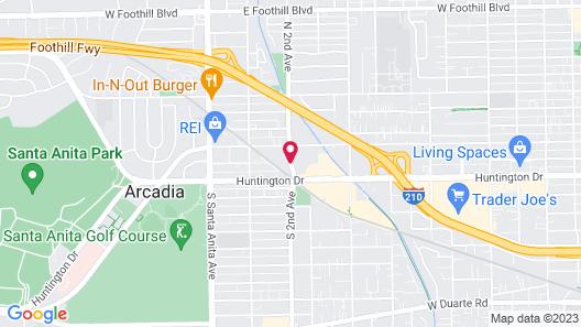 SpringHill Suites by Marriott Pasadena Arcadia Map