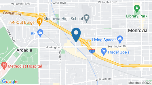 Extended Stay America Suites Los Angeles Monrovia Map