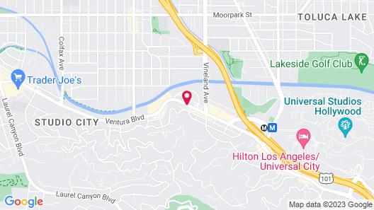 El Royale Hotel Near Universal Studios Hollywood Map