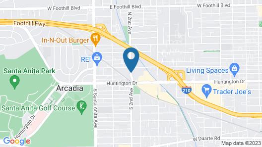 Hilton Garden Inn Arcadia/Pasadena Area Map