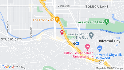 Studio City Universal Apartments Map