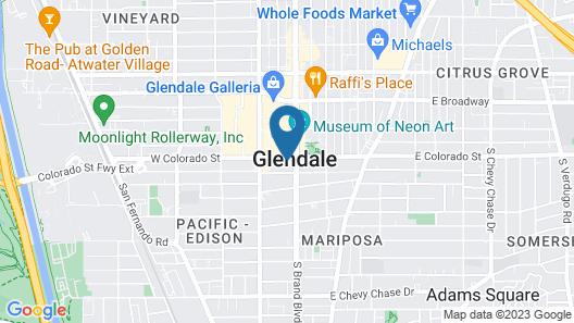 Hampton Inn & Suites Los Angeles - Glendale Map