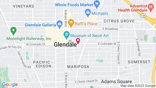 Hotel Xilo Glendale Map