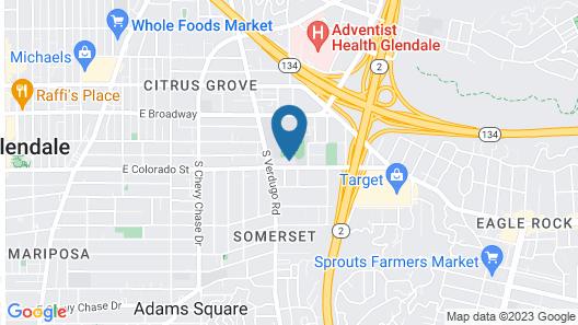 Glenridge Inn Glendale - Pasadena Map