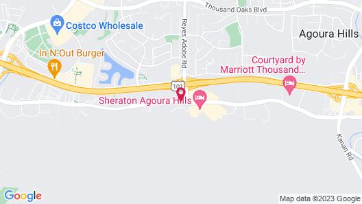 Hampton Inn & Suites Agoura Hills Map