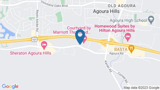 Courtyard by Marriott Thousand Oaks Agoura Hills Map