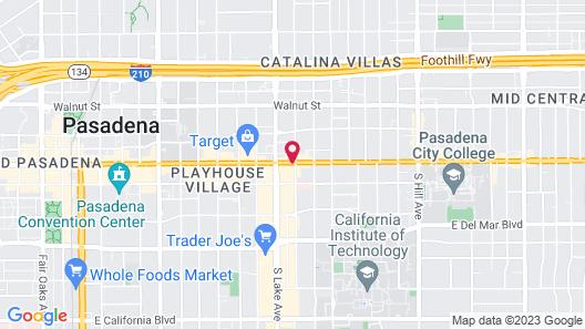 Hotel Constance Pasadena Map