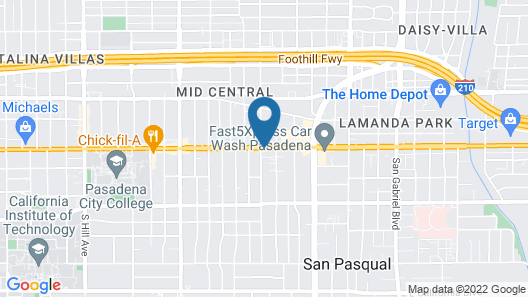 Ramada by Wyndham Pasadena Map