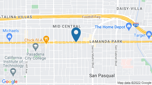 Travelodge by Wyndham Pasadena Central Map