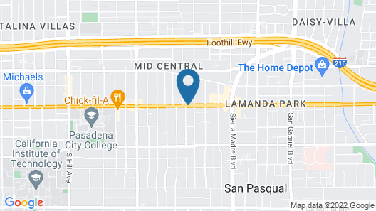 Pasadena Rose Inn Map