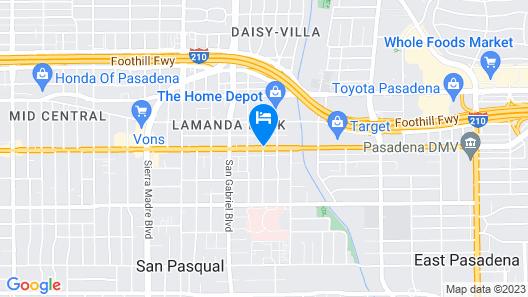 Pasadena Lodge Map