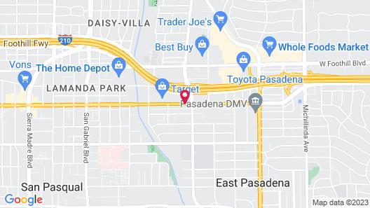 Hotel Le Rêve Pasadena Map