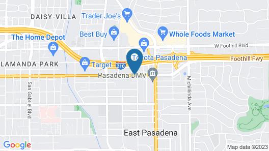 Best Western Pasadena Inn Map