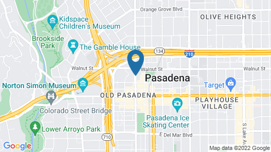 Courtyard by Marriott Old Pasadena Map