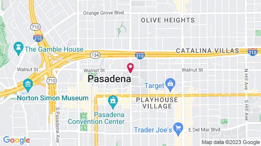 The Westin Pasadena Map