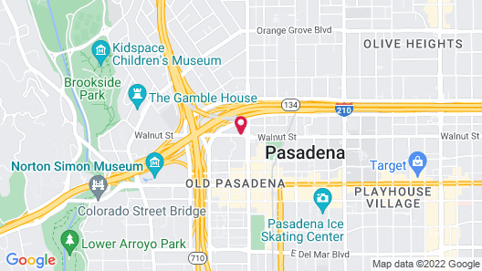 Residence Inn Los Angeles Pasadena/Old Town Map