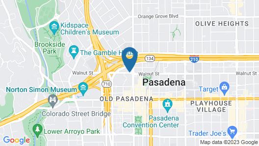 Residence Inn Los Angeles Pasadena/Old Town Map