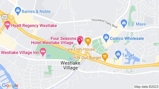 Four Seasons Hotel Los Angeles at Westlake Village Map
