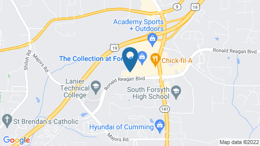 Fairfield Inn & Suites Atlanta Cumming/Johns Creek Map
