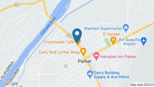 Quality Inn Parker Map