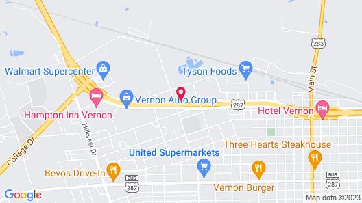 Days Inn by Wyndham Vernon Texas Map