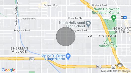 Beautiful & Renovated Garden Apt in Valley Village Map
