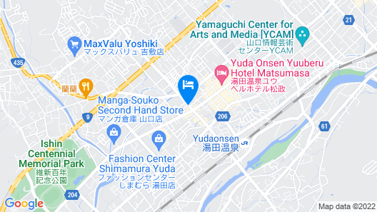 Green Rich Hotel Yamaguchi Yuda Onsen Map