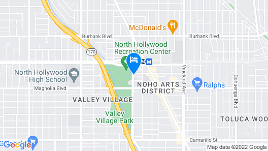 Lexen Hotel-North Hollywood Near Universal Map