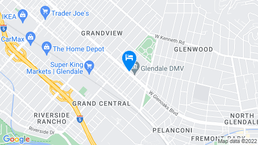 Extended Stay America - Los Angeles - Glendale Map