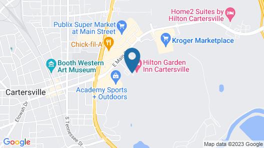 Hilton Garden Inn Cartersville Map