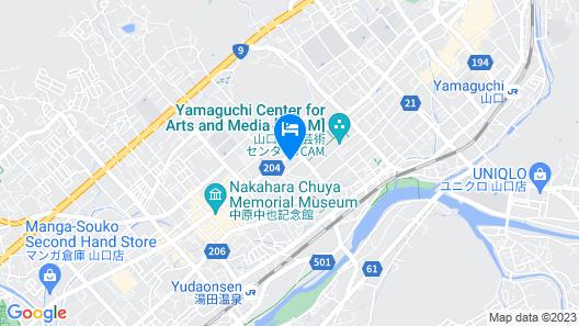 Hotel Route Inn Yamaguchi Yudaonsen Map