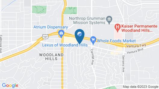 Vantage Point Inn Woodland Hills Map