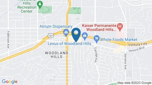Best Western Woodland Hills Inn Map