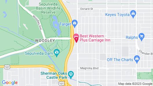 Best Western Plus Carriage Inn Map