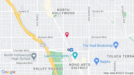 Holiday Inn Express North Hollywood - Burbank Area Map