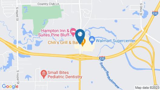 Hampton Inn and Suites Pine Bluff Map