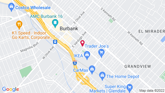 SpringHill Suites Los Angeles Burbank/Downtown Map