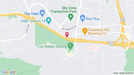 Best Western Plus Thousand Oaks Inn Map