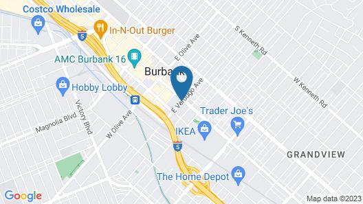 Hilton Garden Inn Burbank Downtown, CA Map