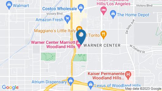 Warner Center Marriott Woodland Hills Map