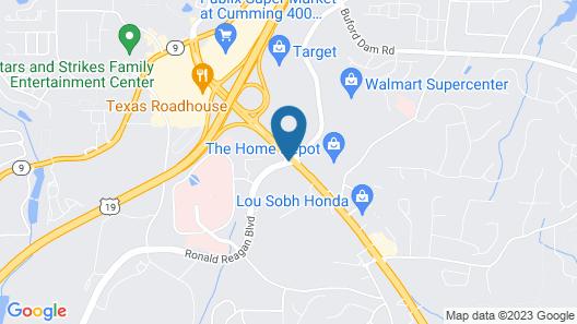 Hampton Inn Cumming Map