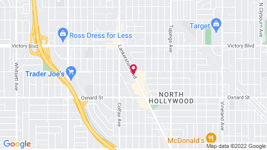 Comfort Inn & Suites Near Universal - N. Hollywood - Burbank Map