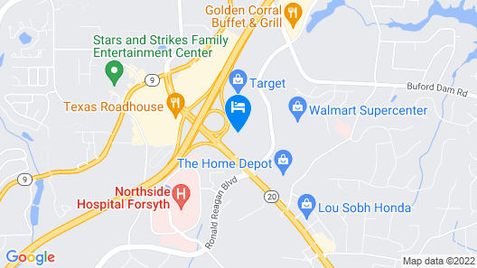 Holiday Inn Express Hotel & Suites Atlanta-Cumming, an IHG Hotel Map